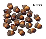 oak fruit - Borang 60 Pcs Christmas Decorative Fake Mini Acorn Oak Nut Artificial Fruits Ornaments Decor