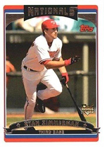 Ryan Zimmerman baseball card (Washington Nationals) 2006 Topps #617 Rookie (Baseball Ryan Zimmerman)