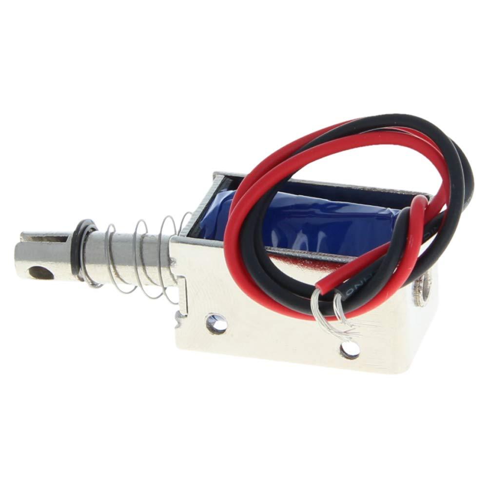 Fielect 1Pcs JF-0530B-12V DC Push Pull Type Open Frame Solenoid Electromagnet Linear Motion Electromagnet
