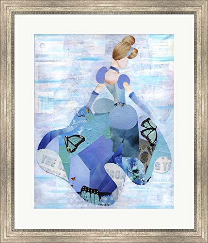 (Cinderella Artpoptart Framed Art Print Wall Picture, Silver Scoop Frame, 26 x 30 inches)