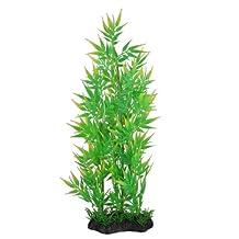Uxcell Plastic Aquarium Bamboo Plant Decor, 37cm, Green/Yellow