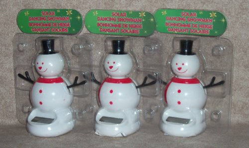 (Solar Dancing - SNOWMAN (3-Pack) in Bubble Packages)