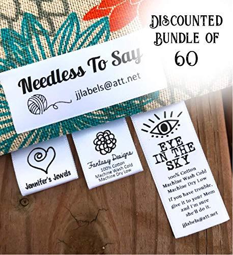 60 Satin Professional Quality Custom Printed Labels