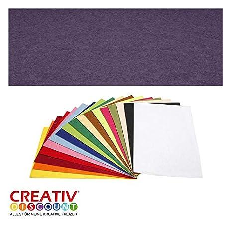 Dunkelblau Creative Discount Filzplatte 10 St 20x30cm