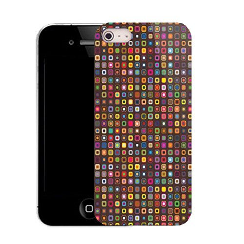 Mobile Case Mate IPhone 5S clip on Silicone Coque couverture case cover Pare-chocs + STYLET - multi bead pattern (SILICON)