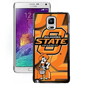 Popular And Durable Designed Case With NCAA Big 12 Conference Big12 Football Oklahoma State Cowboys 8 Protective Cell Phone Hardshell Cover Case For Samsung Galaxy Note 4 N910A N910T N910P N910V N910R4 Phone Case Black