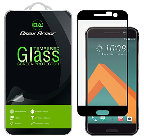 51dlOn0GMSL Supershieldz for HTC 10 Tempered Glass Screen Protector, [Full Screen Coverage] Anti-Scratch, Bubble Free, Lifetime Replacement Warranty  (Black).