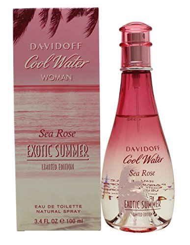Spray Cool Summer Water (Davidoff Cool Water Sea Rose Exotic Summer Eau De Toilette Spray for Women, 3.4 Ounce)