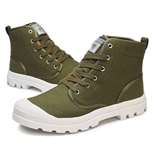 di Tela Alte Scarpe Guida Anguang Verde da Sportivo Sneakers Traspirante 1 Scarpe Stringata Unisex xwnFYU