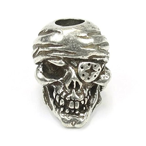 Schmuckatelli Co SMUKOJP-BRK One-Eye Jack Skull Bead Pewter (Eye Jack)