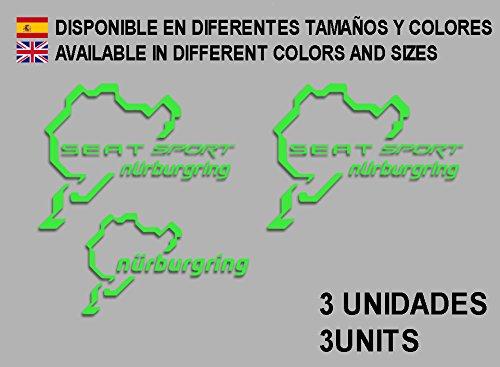 PEGATINAS-STICKERS-SEAT-SPORT-NRBURGRING-F26-AUFKLEBER-DECALS-AUTOCOLLANTS-ADESIVI-RALLYE