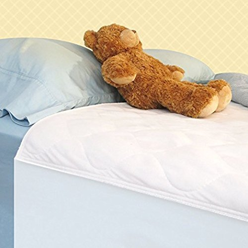 Waterproof Saddle Underpad with Tuck-in Tails, 34x36 Inches - Washable Incontinence Bed Pad for Kids, Adults or Pets (Plastic Cover For Twin Bed)