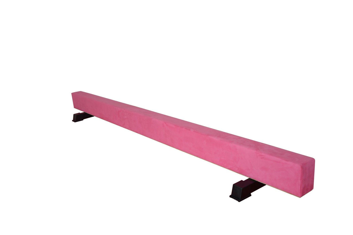 We R Sports 8FT High Wood Core Gymnastics Balance Beam Gym Training Metal Feet Equipment Bar