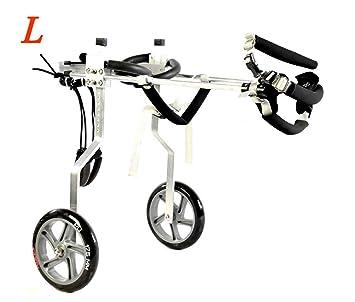Silla de ruedas para perros de 2 ruedas adecuada para perros pequeños, carro de acero