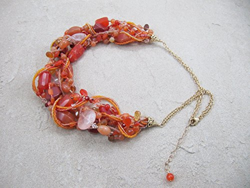 Faceted Roundel Bead Necklace - 8
