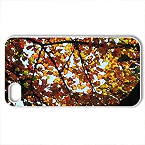 Autumn In Ohio - Case Cover for iPhone 4 and 4s (Watercolor style, White)