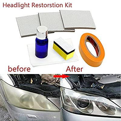 Guteauto Car Headlamp Polishing Anti-scratch DIY For Car Head Lamp Lense Increase Visibility Headlight Restorstion Kit Restores Clarity