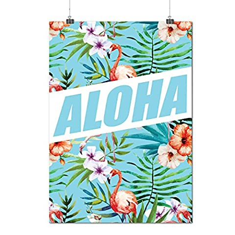 Aloha Hawaii Holiday Wild Flamingo Matte/Glossy Poster A3 (12x17 inches) | Wellcoda (Aloha Island Resort)
