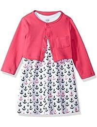 Baby Girls Dress and Cardigan Set