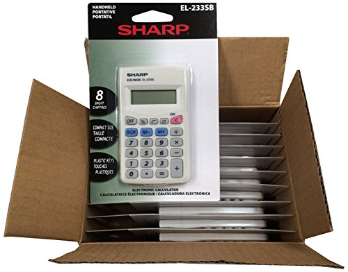 Sharp EL233SB 10 Pack EL233SBX10 Calculator by Sharp