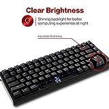 DREVO 84-Key Gramr Mechanical Keyboard with Backlit Mechanical Gaming Keyboard Red Switch, Black
