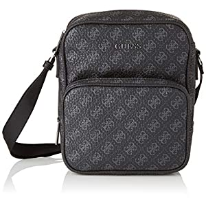 Guess Men's City Logo Top Zip Crossbody Messenger Bag
