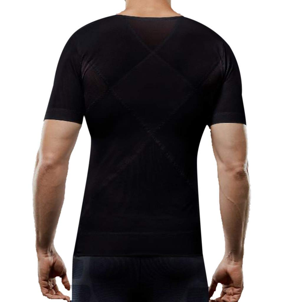 Funny T Shirts for Men,Donci Mens Summer Casual Bodybuilding Sport Shapewear Fitness Tops Short Sleeve Tops