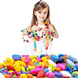 Looching 290pcs DIY Necklace Bracelet Art Crafts Pop Snap Beads Set Creative Jewelry Kit Gift Toys for Kids