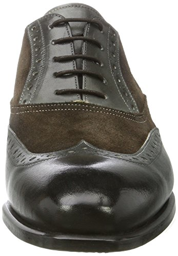 Kenneth Cole Coat Armour, Scarpe Stringate Basse Brogue Uomo Grigio (Grey 020)