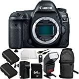 Canon EOS 5D Mark IV DSLR Camera (Body On 9PC Accessory Kit - Includes 64GB Memory Card + 2 Replacement LP-E6 Batteries + MORE (Certified Refurbished)