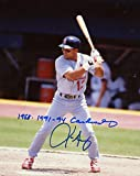 Signed Luis Alicea Photograph - 1988 1991 94 At Bat 8x10 W coa - Autographed MLB Photos