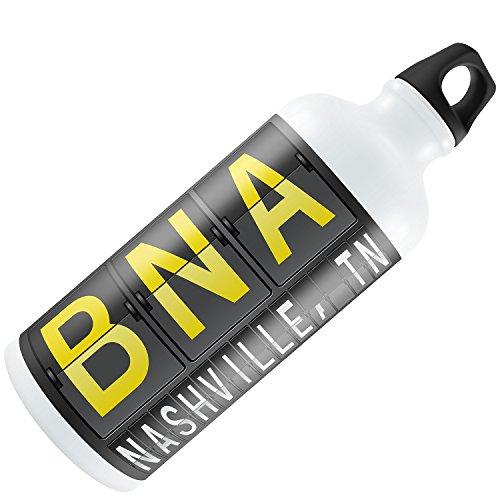 Water Bottle BNA Airport Code for Nashville, TN 20oz / - Nashville Airport Tn