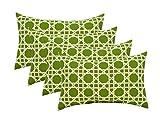 RSH Décor Set of 4 Indoor/Outdoor Lumbar Rectangular Throw Pillows (12''x20'') Kane Palm