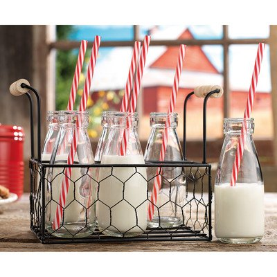 Pint Milk Bottle (Home Essentials Country Chic 6 Milk Bottle With Caddy)