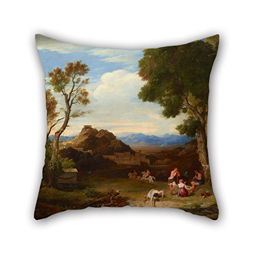 Slimmingpiggy 18 X 18 Inches / 45 By 45 Cm Oil Painting Charles Lock Eastlake - Classical Landscape Pillow Shams,double Sides Is Fit For Boys,couch,chair,bedroom,coffee House,outdoor (Outdoor Fabric Calgary)