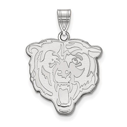 (NFL Sterling Silver Chicago Bears Large Pendant)