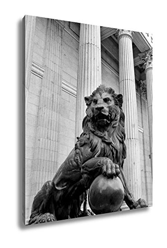 Ashley Canvas Monument, Wall Art Home Decor, Ready to Hang, Black/White, 20x16, AG5399800 Two Piece Lion Wall Fountain