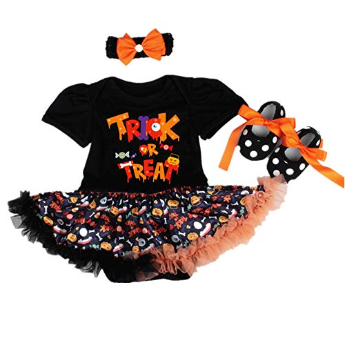 Celebrity Halloween Outfit (NPK collection 3Pcs/Set Reborn Baby Doll Clothes Outfit for 20-23 Inch Reborns Newborn Babies Matching Clothing Halloween Trick Treat Black Tutu)