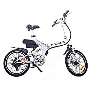 Cyclamatic CX4 Pro Dual Suspension Foldaway E Bike Electric Bicycle White