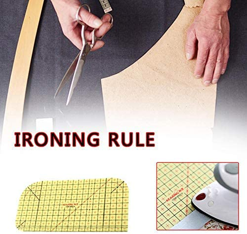 XIDAJIE 4 Pieces Hot Ironing Ruler Patchwork Tailor Craft High Temperature Resistance Ruler DIY Sewing Supplies Measuring Handmade Tools