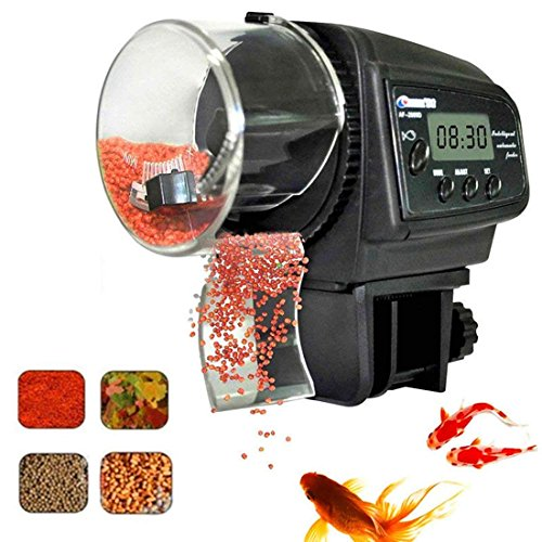 Fish Feeder, Automatic Fish Feeder, eBoTrade Aquarium Tank Auto Fish Food Timer Batteries Included 800EB (Fish Food Feeder Timer)