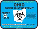 Ohio zombie hunting permit decal bumper sticker