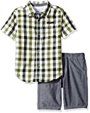 Calvin Klein Little Boys' 2 Piece Set Woven Button Down with Twill Short