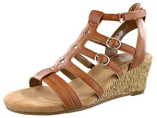 - Aerosoles Women's Sparkle Wedge Sandal, Tan, 8.5 M US