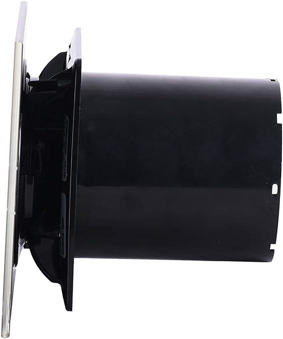 Cata | Extractor baño | Modelo E-100 GT BK | Extractor de baño Serie E Glass | Extractores de aire | Extractor de baño silencioso | Color Cristal negro | 6 unidades |