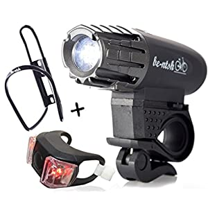 Bicycle Tube Lights off road USB charging Front and Rear (Set of 4) dirt bike light Assembly Easy To Install for Kids Men Women Bell and bottle holder Free Flashlight LED 300 Lumens for Night Rider
