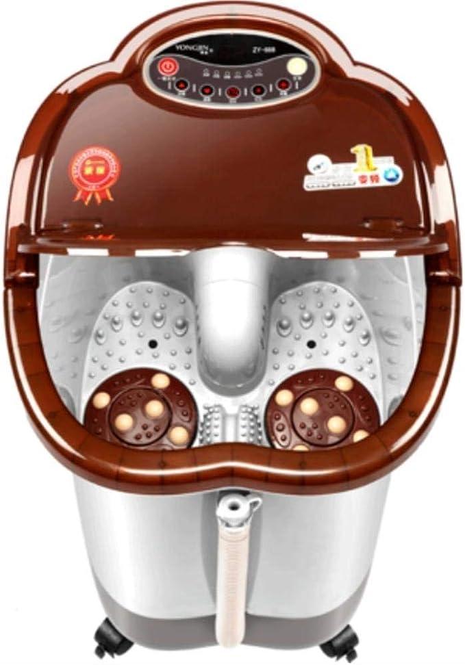 GJJSZ Bañera para pies Masaje de Calentamiento automático Completo Lavado de pies Masaje eléctrico Masaje de Burbujas pies de Barril pie de Burbuja baño de pies de Barril Profundo: Amazon.es: Deportes y