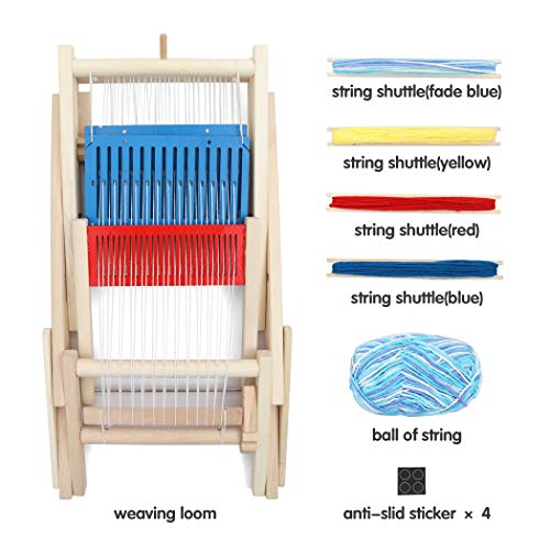 Lavievert Wooden Multi-Craft Weaving Loom DIY Hand-Knitting Weaving Machine Intellectual Toys for Kids by Lavievert (Image #4)