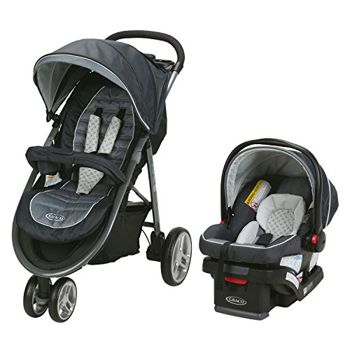 Graco Aire3 Travel System Includes The Lightweight Aire3 Stroller and SnugRide SnugLock 30 Infant Car Seat, McKinley