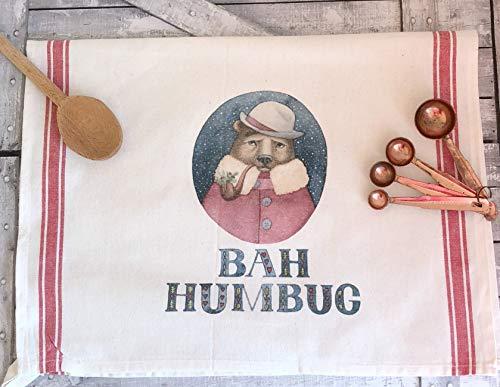 Bear Bah Humbug Holiday Dish Towel (Hollow Bear)